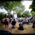 Elwood and Guthrie en concert - Le Jardin Singulier, festival du Pannonica, Maison Audubon, Coueron, le 29 juin 2014
